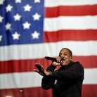 Jay-Z performs at a Barack Obama campaign event