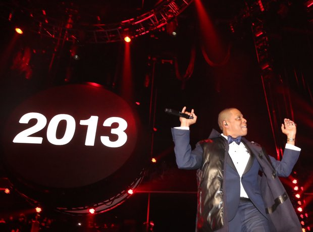 Jay Z performs at Barclays Center on New Years ev