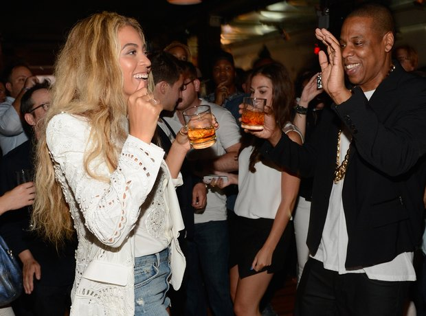 Jay Z and Beyonce celebrate album launch
