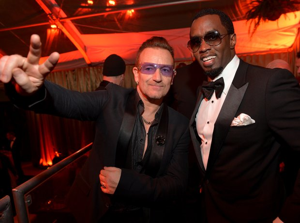 P Diddy and Bono Golden Globes