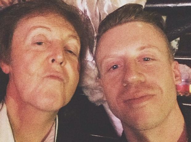 Macklemore Paul McCartney selfie Grammys 2014