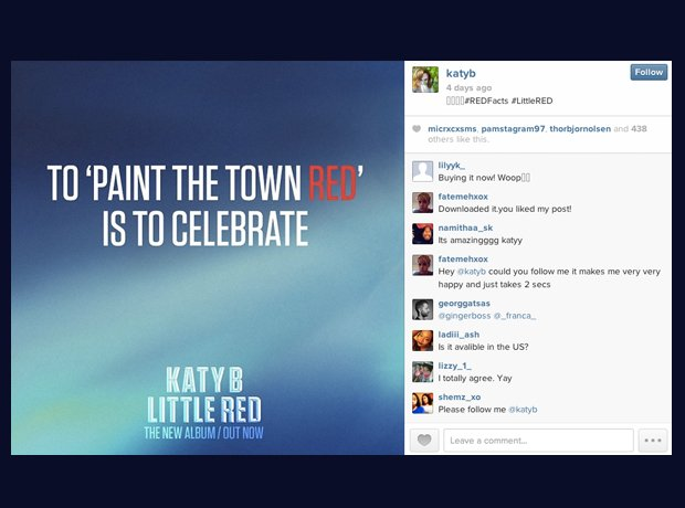 Katy B Little Red Instagram