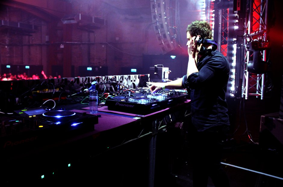 Fedde Le Grand DJs at the Victoria Warehouse in Manchester