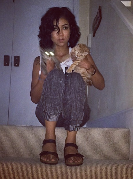 Jhene Aiko with Cats Instagram