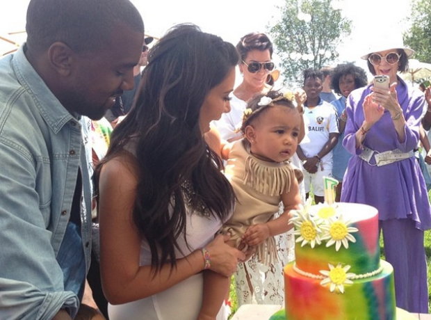 Kanye West Kim Kardashian North West birthday Kidc