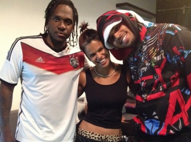 Pusha T and Chris Brown in Germany World Cup kit