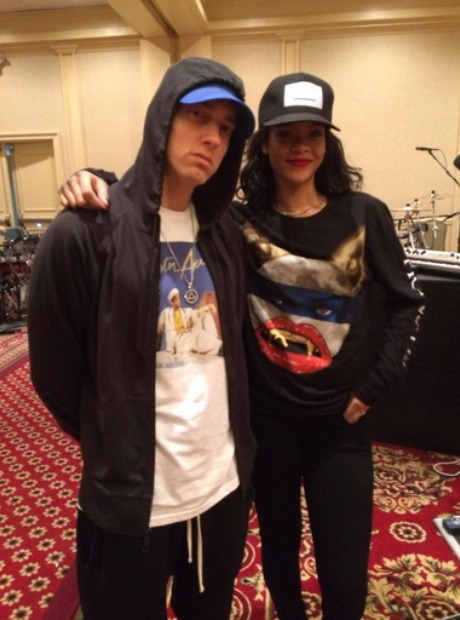 Rihanna Eminem Monster Tour Rehearsal