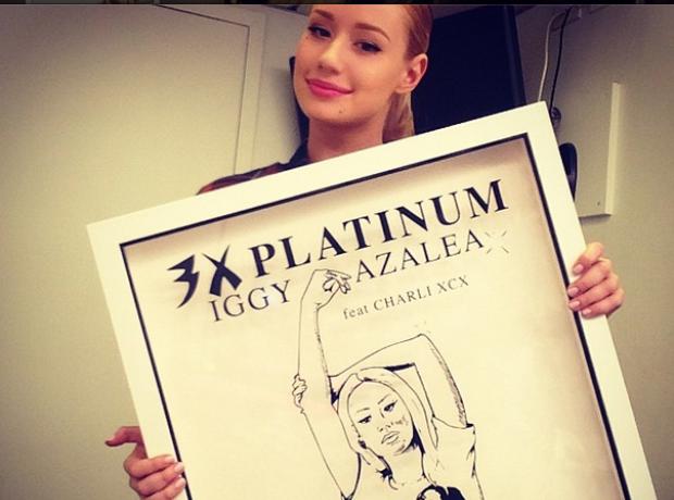 Iggy Azalea platinum US