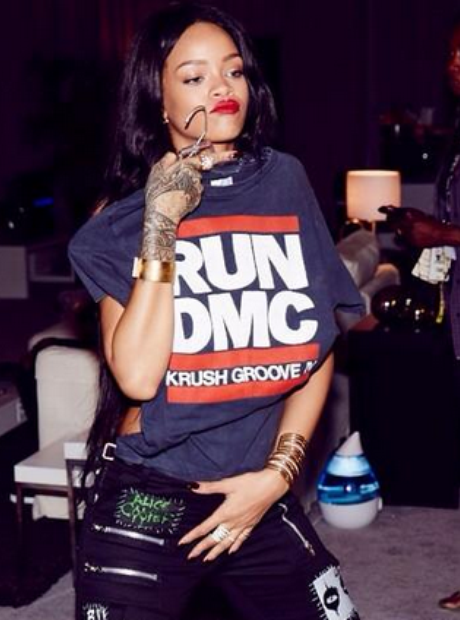 Rihanna The Monster tour backstage