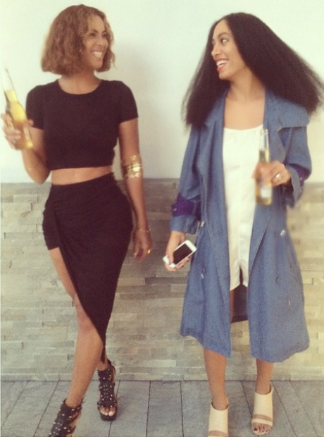 Beyonce and Solange