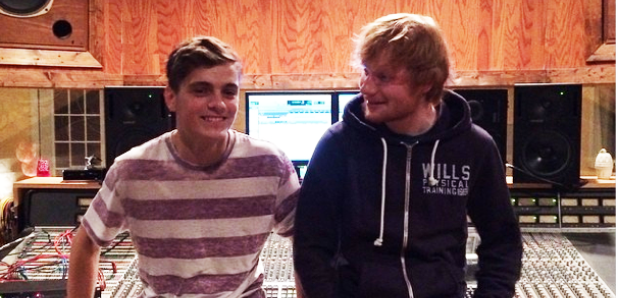 Ed Sheeran and Martin Garrix in the studio