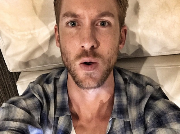 Calvin Harris selfie