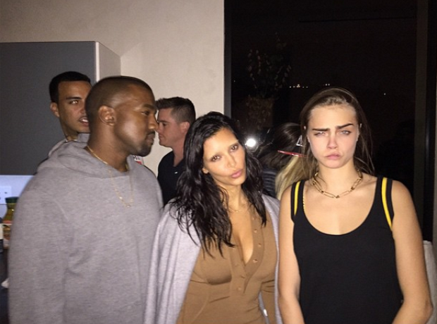 Kanye West Kim Kardashian Cara Delevigne