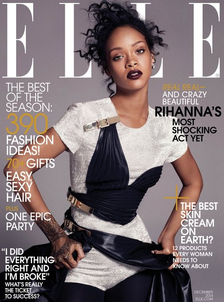rihanna covers us elle magazine s december issue   capital