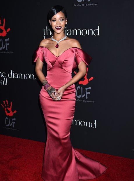 Rihanna attends the Diamond Ball in LA