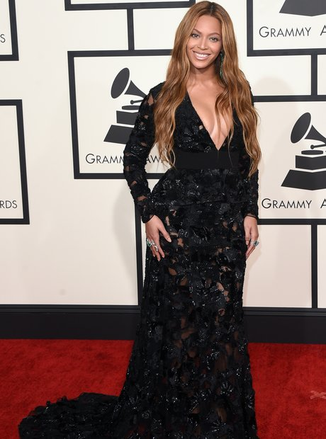 Beyonce arrives at the Grammy Awards 2015