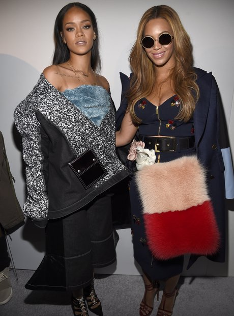 Rihanna and Beyonce Fashion Week 2015