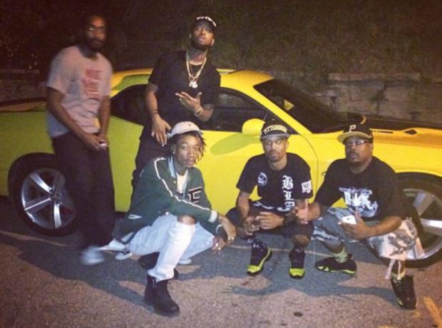 Wiz khalifa and luxury yello car