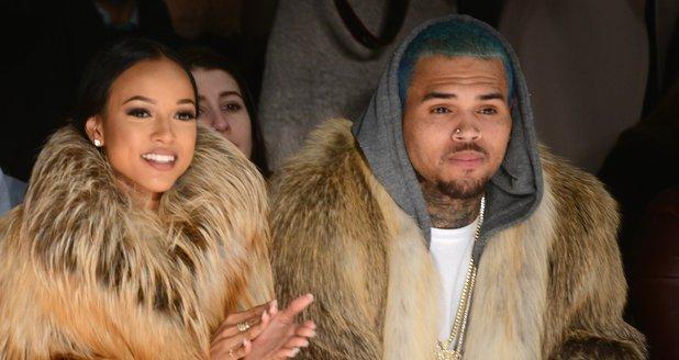 Karrueche Tran, and Chris Brown attend the Michael