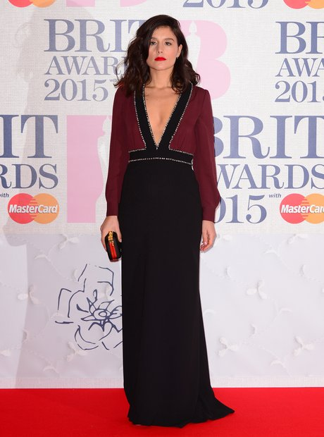 Jessie Ware BRIT Awards Red Carpet 2015