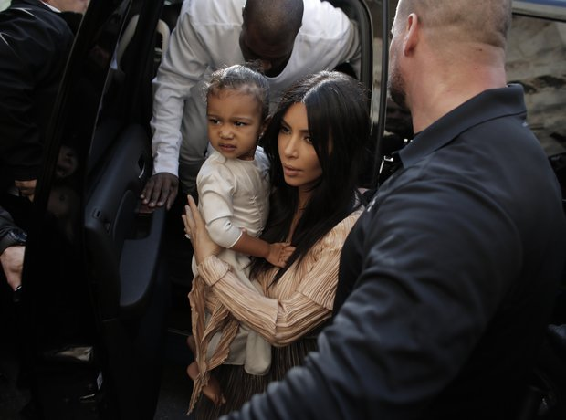 Kanye West and Kim Kardashian in Jerusalem