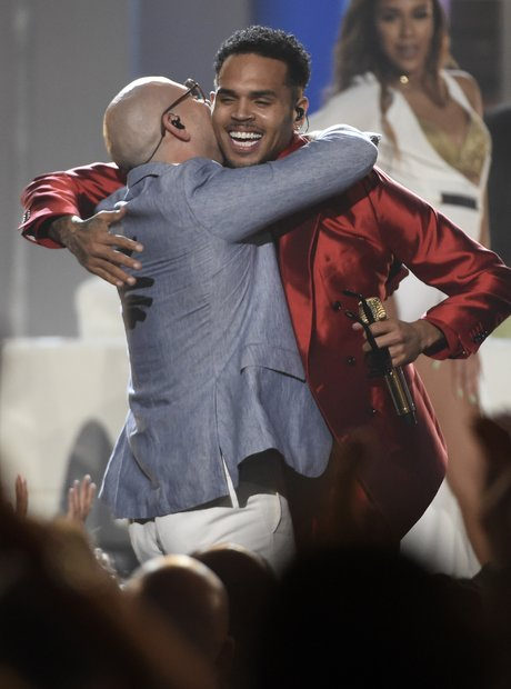 Chris Brown and Pitbull Billboard Music Awards 201