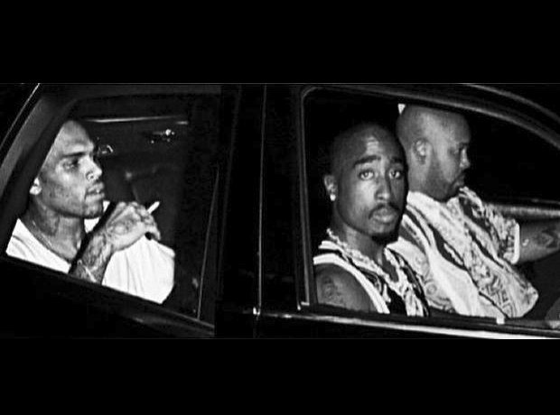 Chris Brown and Tupac