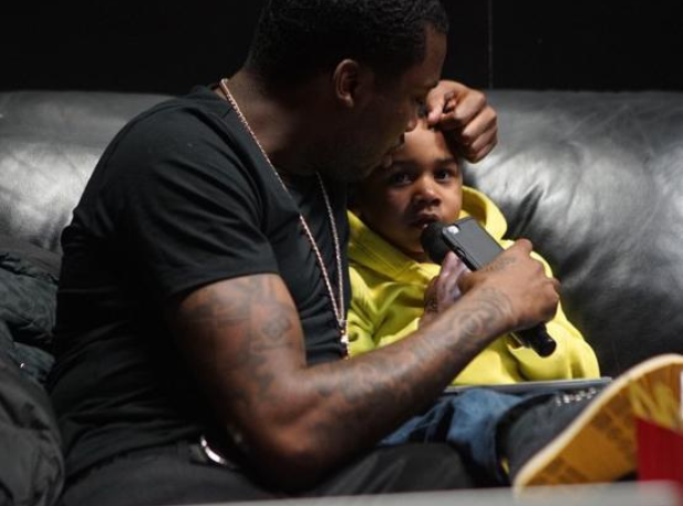 Meek Mill and his son