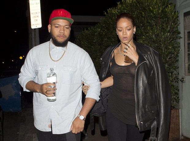 Rihanna wearing a see through top