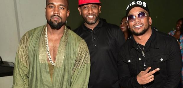 CyHi The Prince standing next to Kanye West