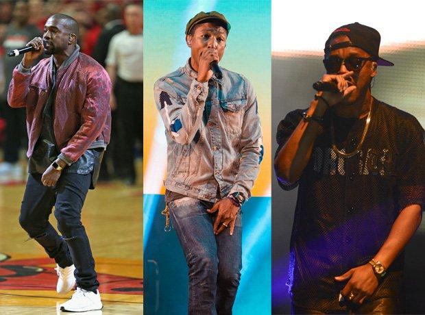 Kanye West Pharrell Williams Lupe Fiasco