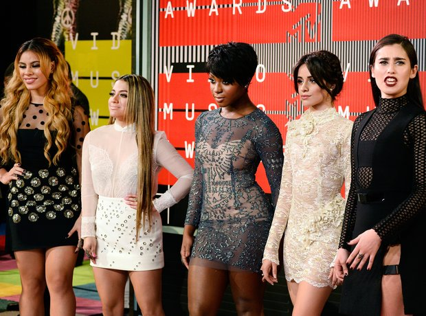 Fifth Harmony arrive at the MTV VMAs 2015