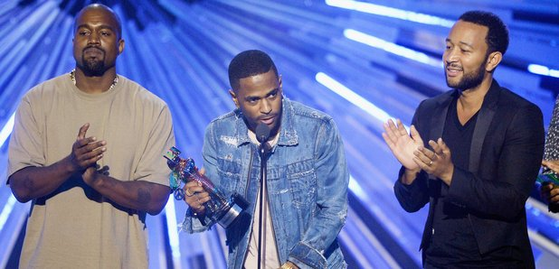 Kanye West Big Sean and John Legend MTV VMAs 2015