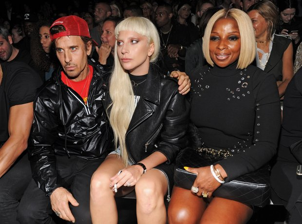 Lady Gaga Mary J Blige New York Fashion Week