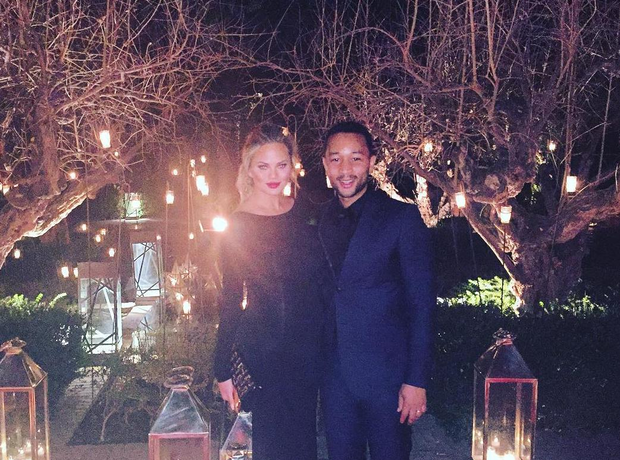 John Legend Chrissy Teigen NYE 2015