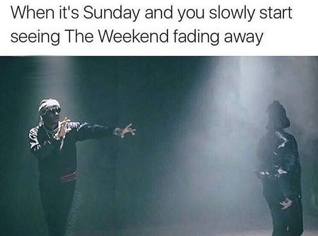 The weekend meme
