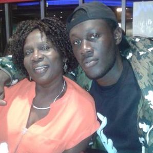 Stormzy with his Mum