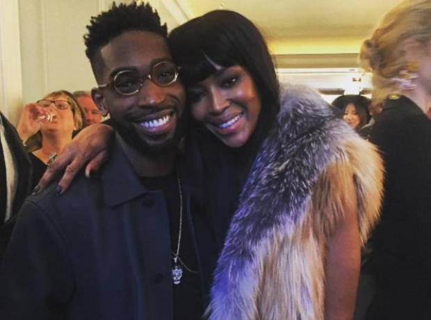 Tinie Tempah with Naomi Campbell