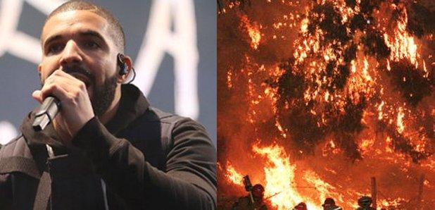 Drake Calabasas Fire