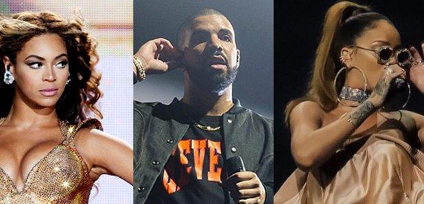 Beyonce Drake Rihanna