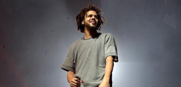 J. Cole on stage