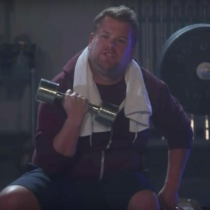 James Corden in the gym