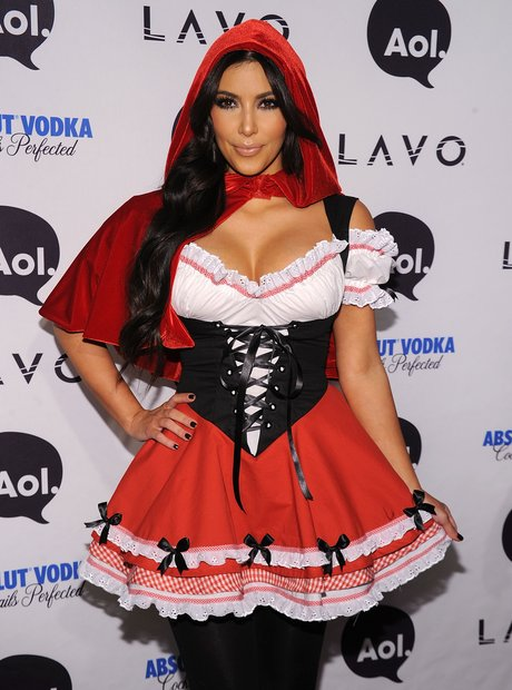 Kim Kardashian Red Riding Hood Halloween Costume
