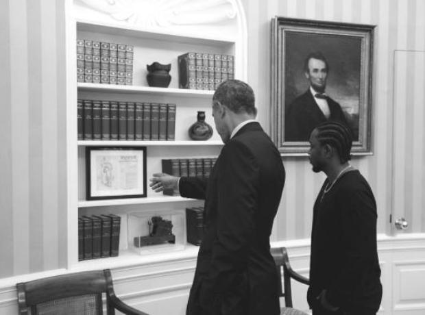 Barrack Obama and Kendrick Lamar