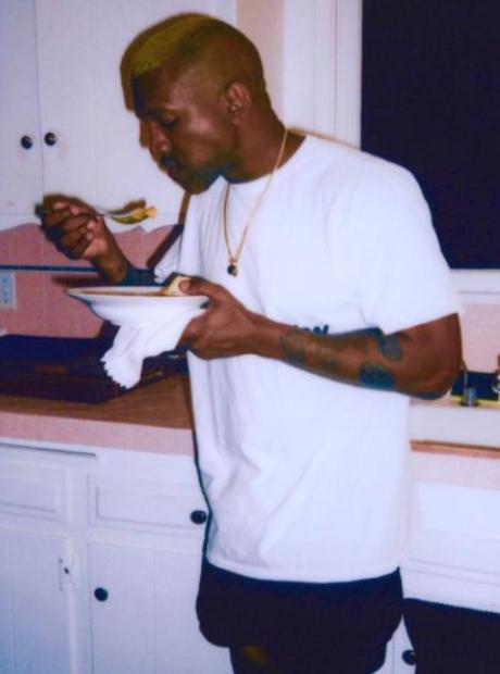 Kanye West Eating At Home