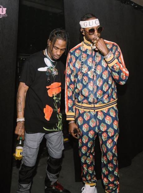 2 Chainz and Travis Scott at Kendrick Lamar show